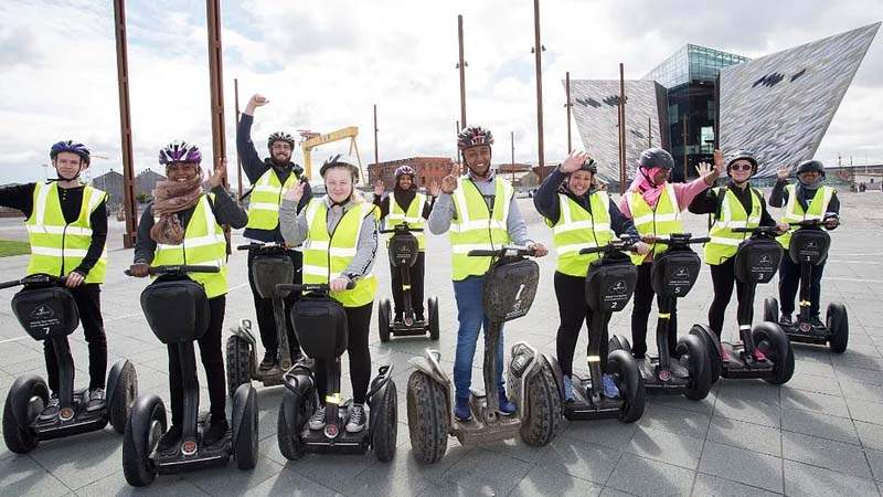 segway titanic is one of belfasts newest attractions to ta take a guided tour of the Titanic Quarter